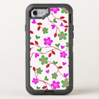 lovely floral 415B (I) OtterBox Defender iPhone 8/7 Case