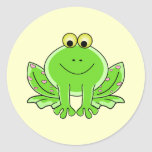 Lovely Frog Round Stickers