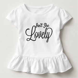 Lovely girl's ruffled quoted t-shirt
