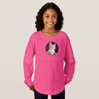 Lovely Girls' Spirit Jersey Shirt In Kitty Design