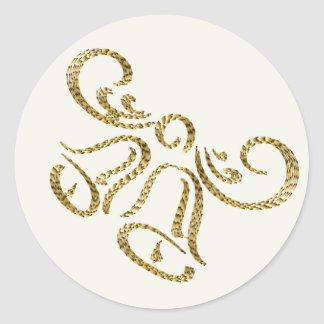 Lovely gold Wedding Bells Stickers