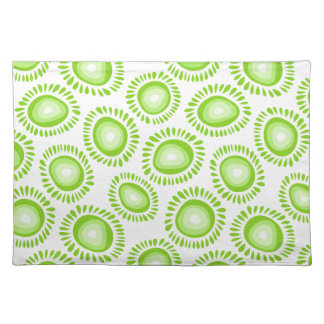 Lovely green funky flowers placemat