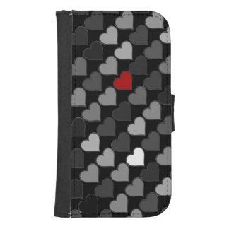lovely hearts pattern samsung s4 wallet case