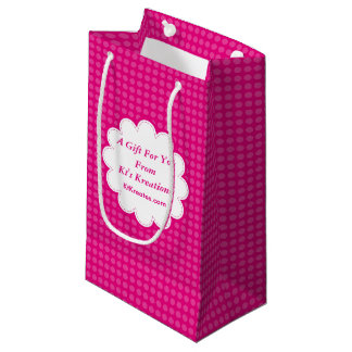 Lovely Labels Pink Polka Dot Small Gift Bag