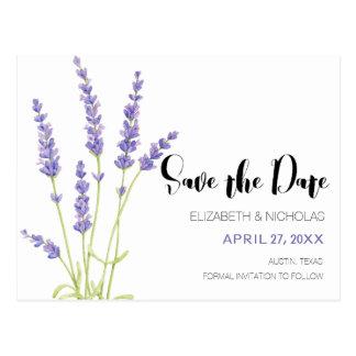 Lovely Light Purple Lavender Photo Save The Date Postcard