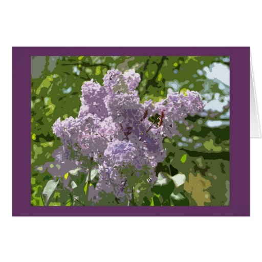 Lovely lilac blossom cards