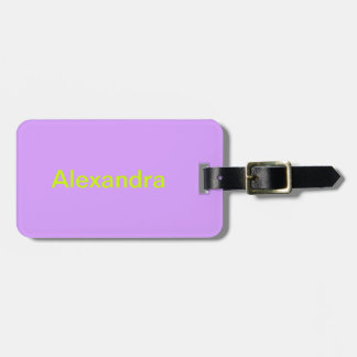 Lovely Lilac Solid Color Bag Tag
