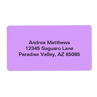 Lovely Lilac Solid Color Shipping Label