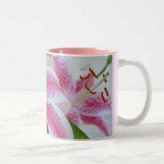 Lovely Lillies Two-Tone Coffee Mug