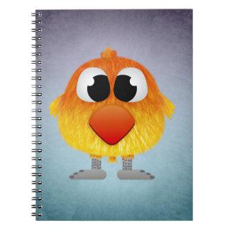 Lovely Little Orange And Yellow Bird Notebooks