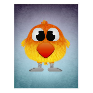 Lovely Little Orange And Yellow Bird Postcard