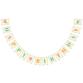 Lovely Llamas Happy Birthday Banner