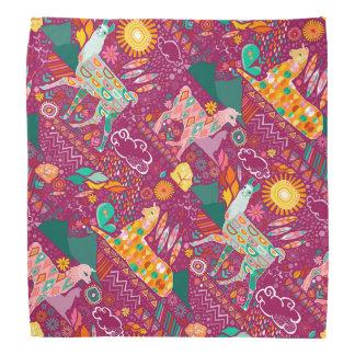 Lovely Llamas on Purple Bandanna