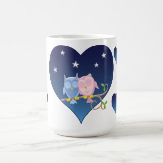 Lovely Owls couple mug