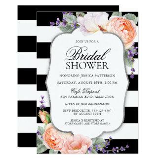 Lovely Roses and Lavender Bridal Shower Card