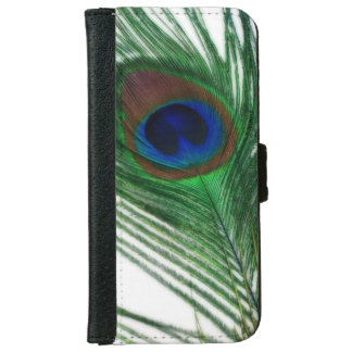 Lovely White Peacock iPhone 6 Wallet Case