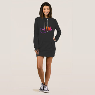 Lovely Women's Hoodie Dress In Yoga Design