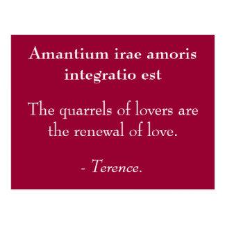 Lovers Quarrels Post Card