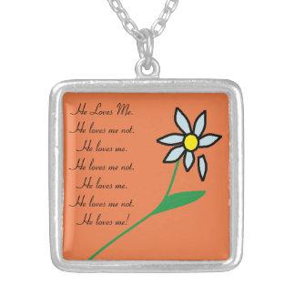 Loves Me, Loves Me Not Flower Necklace #1