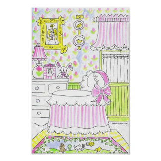 "Lovie and Dodge ""Nursery- Pink"" Poster"