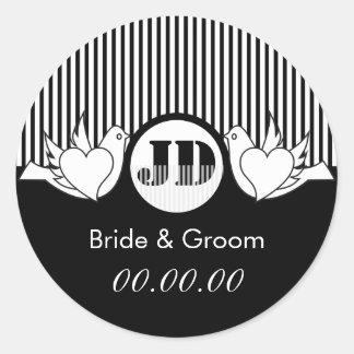 Loving Doves Wedding Stickers