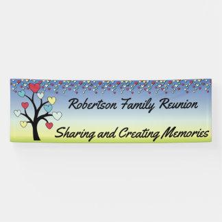 Loving Family Tree Reunion Banner
