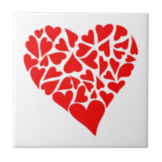 Loving Hearts Small Square Tile