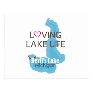 Loving Lake Life, Devil's Lake, Michigan Postcard