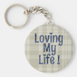 Loving My Life Key Chain Ring