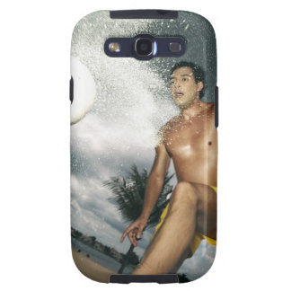 Low angle view of a man playing beach volley samsung galaxy SIII cover