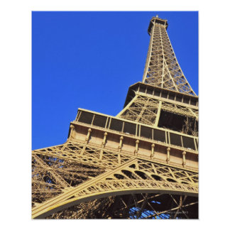 Low angle view of Eiffel Tower against blue sky 2 Poster