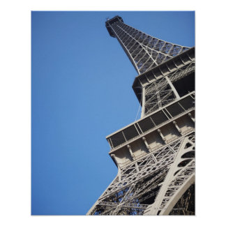 Low angle view of Eiffel Tower, Paris, France Poster