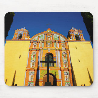 Low Angle View Of Yellow Ornate Church Mouse Pad
