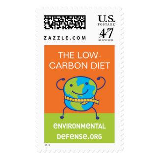 Low-Carbon Diet, EnvironmentalDefense.org Postage Stamp