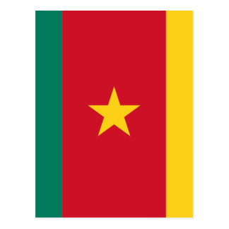 Low Cost! Cameroon Flag Postcard