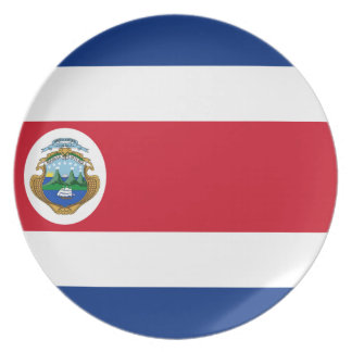 Low Cost! Costa Rica Flag Plate