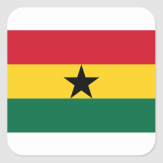 Low Cost! Ghana Flag Square Sticker