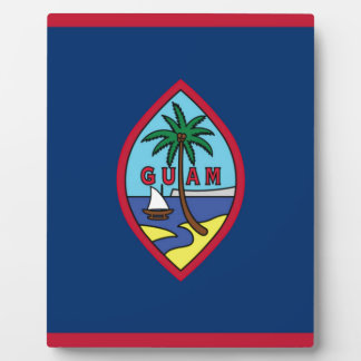 Low Cost! Guam Flag Photo Plaques
