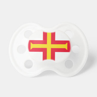 Low Cost! Guernsey Flag Baby Pacifier