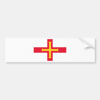 Low Cost! Guernsey Flag Bumper Sticker