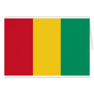 Low Cost! Guinea Flag Card