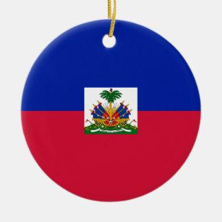 Low Cost! Haiti Flag Christmas Ornament