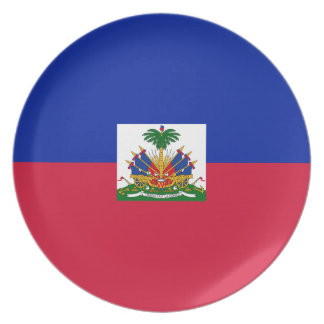 Low Cost! Haiti Flag Plate