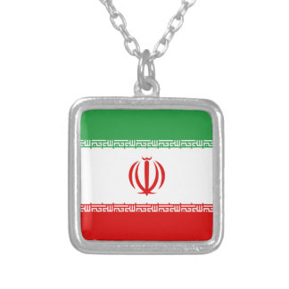 Low Cost! Iran Flag Silver Plated Necklace