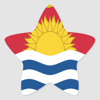 Low Cost! Kiribati Flag Star Sticker