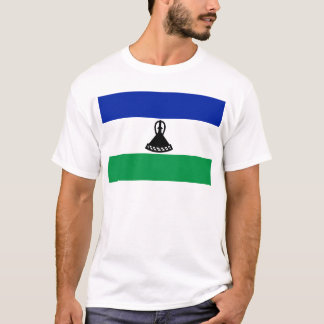 Low Cost! Lesotho Flag T-Shirt