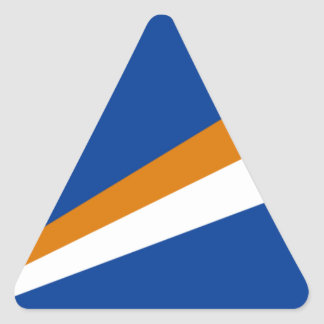 Low Cost! Marshall Islands Flag Triangle Sticker