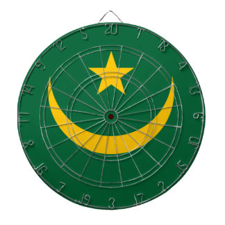 Low Cost! Mauritania Flag Dart Boards