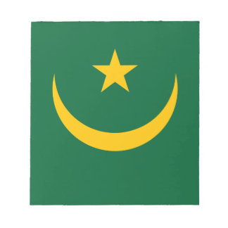 Low Cost! Mauritania Flag Notepads