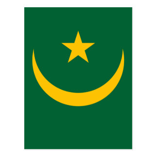 Low Cost! Mauritania Flag Postcard